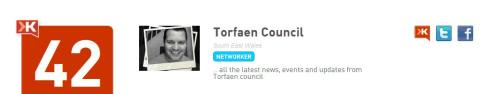 Torfaen Council Klout Score