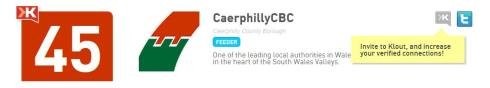 Caerphilly Council Klout Score